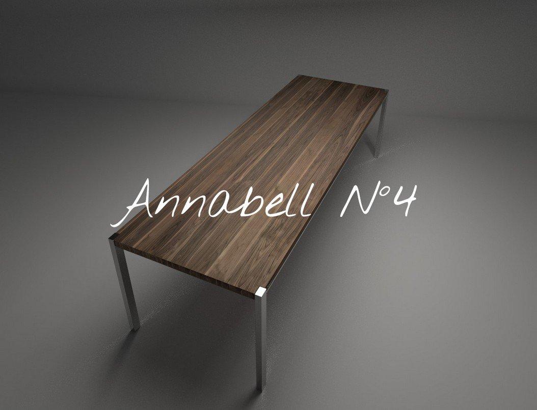 Design Tisch Annabell Nummer 4 aus Edel-Stahl Holz by Sebastian Bohry timeless design