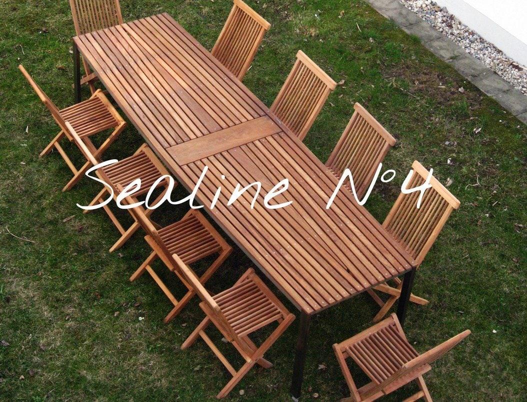 Design Tisch Sealine Nummer 4 aus Holz Metall Teak by Sebastian Bohry timeless design