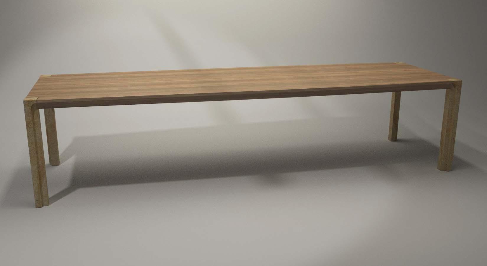 Design Tisch Cosel Nummer 1 aus Sandstein Massiv-Holz by Sebastian Bohry