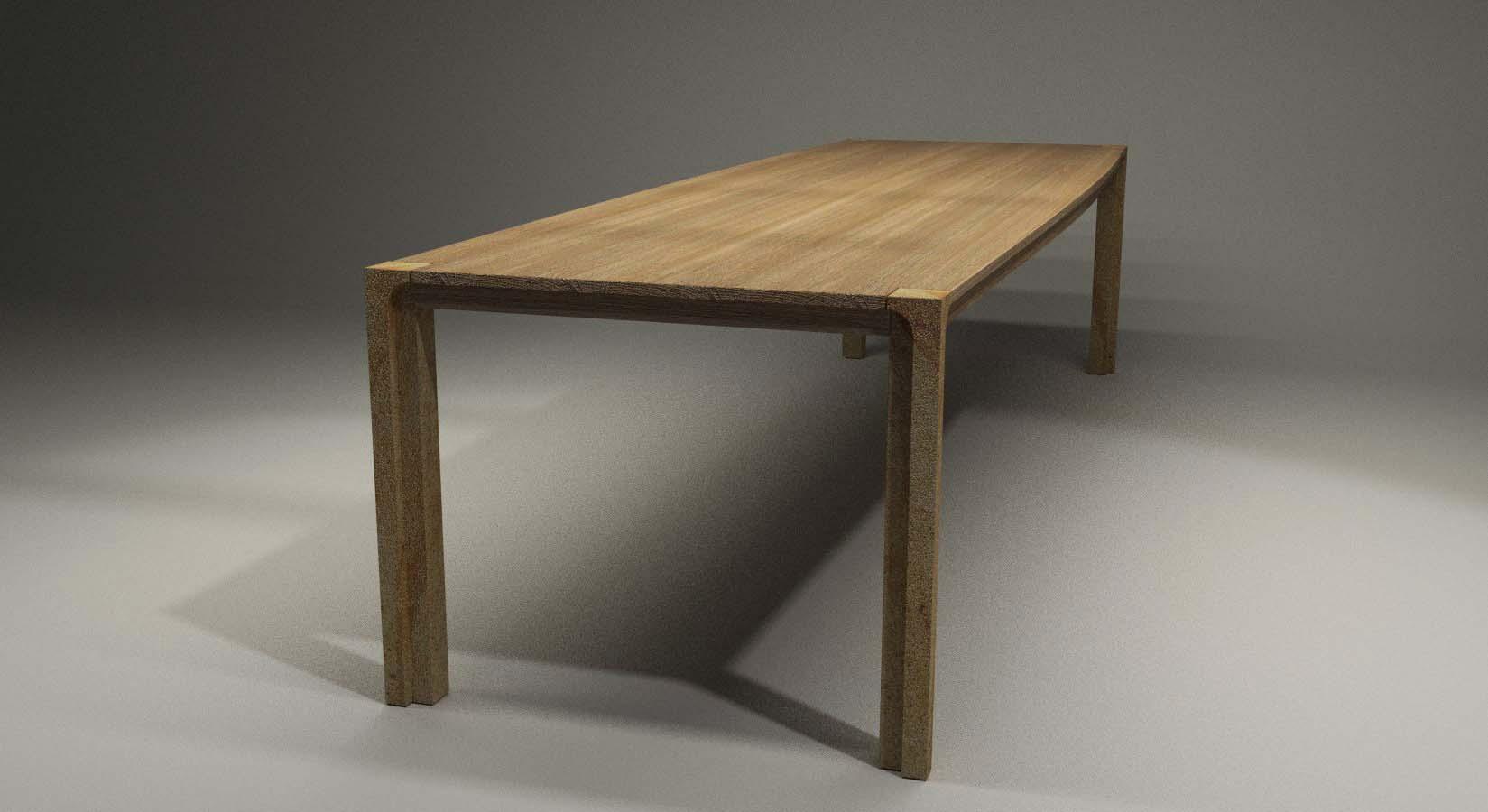 Design Tisch Cosel Nummer 1 aus Holz Sandstein by Sebastian Bohry timeless design