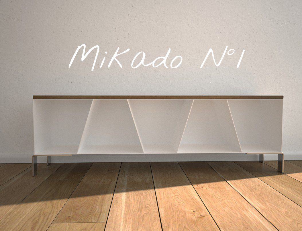 Design TV-Sideboard Mehrzweck-Aufbewahrung aus Stahl Holz Eiche by Stahlzart timeless design