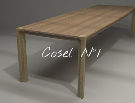 Design Tisch Cosel Nummer 1 aus Sandstein Holz by Sebastian Bohry timeless design